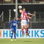 19-09-2017: Voetbal: FC Oss v Almere City FC: Oss (L-R)  Erik Quekel (FC Oss), Damon Mirani (Almere City FC) Jupiler League 2017 / 2018