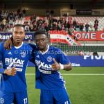 19-09-2017: Voetbal: FC Oss v Almere City FC: Oss (L-R) Arsenio Valpoort (Almere City FC), Leeroy Owusu (Almere City FC) Jupiler League 2017 / 2018