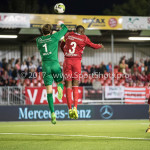 22-09-2017: Voetbal: Almere City FC v FC Oss: Almere (L-R) Xavier Mous (FC Oss), Calvin Mac Intosch (Almere City FC) Jupiler League 2017 / 2018