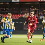 22-09-2017: Voetbal: Almere City FC v FC Oss: Almere (L-R) Richard van der Venne (FC Oss), Dennis van der Heijden (Almere City FC) Jupiler League 2017 / 2018