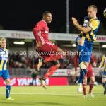 22-09-2017: Voetbal: Almere City FC v FC Oss: Almere (L-R) Arsenio Valpoort (Almere City FC), Istvan Bakx (FC Oss) Jupiler League 2017 / 2018