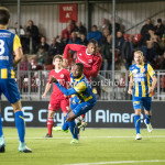22-09-2017: Voetbal: Almere City FC v FC Oss: Almere (L-R) Lorenzo Pique (FC Oss), Arsenio Valpoort (Almere City FC) Jupiler League 2017 / 2018