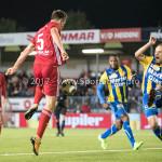22-09-2017: Voetbal: Almere City FC v FC Oss: Almere (L-R) Josef Kvída (Almere City FC), Niels Fleuren (FC Oss) Jupiler League 2017 / 2018