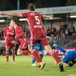 22-09-2017: Voetbal: Almere City FC v FC Oss: Almere (L-R) Dennis van der Heijden (Almere City FC), Josef Kvída (Almere City FC) Jupiler League 2017 / 2018
