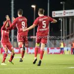 22-09-2017: Voetbal: Almere City FC v FC Oss: Almere (L-R) Anass Ahannach (Almere City FC), Dennis van der Heijden (Almere City FC), Josef Kvída (Almere City FC), Ezra Walian (Almere City FC) Jupiler League 2017 / 2018