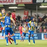 22-09-2017: Voetbal: Almere City FC v FC Oss: Almere (L-R) Rick Stuy van de Herik (FC Oss), Ferry de Regt (FC Oss), Dennis van der Heijden (Almere City FC) Jupiler League 2017 / 2018