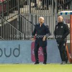 22-09-2017: Voetbal: Almere City FC v FC Oss: Almere (L-R) Jack de Gier - Technisch manager/Hoofdtrainer (Almere City FC), Marco Heering - Assistent trainer (Almere City FC) Jupiler League 2017 / 2018