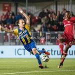 22-09-2017: Voetbal: Almere City FC v FC Oss: Almere (L-R) Niels Fleuren (FC Oss), Arsenio Valpoort (Almere City FC) Jupiler League 2017 / 2018