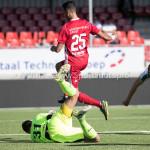 23-09-2017: Voetbal: Jong Almere City FC v Jong FC Groningen: Almere (L-R) Jan Hoekstra (Jong FC Groningen), Khalid Tadmine (Jong Almere City FC) 3de divisie zaterdag 2017 / 2018