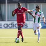23-09-2017: Voetbal: Jong Almere City FC v Jong FC Groningen: Almere (L-R) Devechio Blackson (Jong Almere City FC), Carlos Uriel Antuna Rome (Jong FC Groningen) 3de divisie zaterdag 2017 / 2018