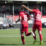 23-09-2017: Voetbal: Jong Almere City FC v Jong FC Groningen: Almere (L-R) Silvester van der Water (Jong Almere City FC), Tarik Evre (Jong Almere City FC) 3de divisie zaterdag 2017 / 2018
