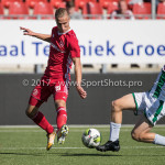 23-09-2017: Voetbal: Jong Almere City FC v Jong FC Groningen: Almere (L-R) Silvester van der Water (Jong Almere City FC), Gerald Postma (Jong FC Groningen) 3de divisie zaterdag 2017 / 2018