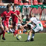 23-09-2017: Voetbal: Jong Almere City FC v Jong FC Groningen: Almere (L-R) James Efmorfidis (Jong Almere City FC), Gerald Postma (Jong FC Groningen) 3de divisie zaterdag 2017 / 2018