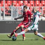 23-09-2017: Voetbal: Jong Almere City FC v Jong FC Groningen: Almere (L-R) Nicky van Hilten (Jong Almere City FC), Hampus Finndell (Jong FC Groningen) 3de divisie zaterdag 2017 / 2018