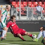 23-09-2017: Voetbal: Jong Almere City FC v Jong FC Groningen: Almere (L-R) Hampus Finndell (Jong FC Groningen), Nicky van Hilten (Jong Almere City FC) 3de divisie zaterdag 2017 / 2018