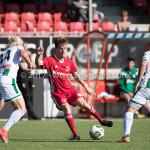 23-09-2017: Voetbal: Jong Almere City FC v Jong FC Groningen: Almere (L-R) Hampus Finndell (Jong FC Groningen), Nicky van Hilten (Jong Almere City FC), Michael Breij (Jong FC Groningen) 3de divisie zaterdag 2017 / 2018