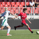 23-09-2017: Voetbal: Jong Almere City FC v Jong FC Groningen: Almere (L-R) Kolbeinn Finnsson (Jong FC Groningen),, James Efmorfidis (Jong Almere City FC) 3de divisie zaterdag 2017 / 2018