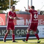 23-09-2017: Voetbal: Jong Almere City FC v Jong FC Groningen: Almere (L-R) Khalid Tadmine (Jong Almere City FC), Sam Krant (Jong Almere City FC) 3de divisie zaterdag 2017 / 2018