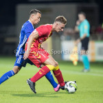 29-09-2017: Voetbal: Go Ahead Eagles v Almere City FC: Deventer (L-R) Gaston Salasiwa (Almere City FC), Dennis Hettinga (Go Ahead Eagles) Jupiler League 2017 / 2018