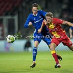 29-09-2017: Voetbal: Go Ahead Eagles v Almere City FC: Deventer (L-R) Dennis van der Heijden (Almere City FC), Rick Ketting (Go Ahead Eagles) Jupiler League 2017 / 2018