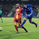 29-09-2017: Voetbal: Go Ahead Eagles v Almere City FC: Deventer (L-R) Joey Suk (Go Ahead Eagles), Gaston Salasiwa (Almere City FC) Jupiler League 2017 / 2018