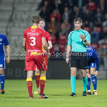 29-09-2017: Voetbal: Go Ahead Eagles v Almere City FC: Deventer (L-R) Rick Ketting (Go Ahead Eagles), Joey Kooij (Scheidsrechter) Jupiler League 2017 / 2018