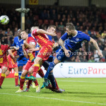 29-09-2017: Voetbal: Go Ahead Eagles v Almere City FC: Deventer Kevin Brands (Almere City FC) 1-1 Jupiler League 2017 / 2018