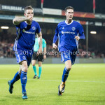 29-09-2017: Voetbal: Go Ahead Eagles v Almere City FC: Deventer (L-R) Kevin Brands (Almere City FC), Dennis van der Heijden (Almere City FC) Jupiler League 2017 / 2018