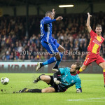 29-09-2017: Voetbal: Go Ahead Eagles v Almere City FC: Deventer (L-R) Arsenio Valpoort (Almere City FC), Sonny Stevens (Go Ahead Eagles) Jupiler League 2017 / 2018