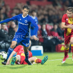 29-09-2017: Voetbal: Go Ahead Eagles v Almere City FC: Deventer (L-R) Anass Ahannach (Almere City FC), Pieter Langedijk (Go Ahead Eagles) Jupiler League 2017 / 2018