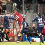06-10-2017: Voetbal: Almere City FC v MVV Maastricht: Almere (L-R) Joeri Schroijen (MVV), Achille Vaarnold (Almere City FC), Florian Loshaj (MVV) Jupiler League 2017 / 2018