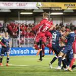 06-10-2017: Voetbal: Almere City FC v MVV Maastricht: Almere (L-R) Damon Mirani (Almere City FC), Delvechio Blackson (Almere City FC) Jupiler League 2017 / 2018