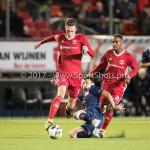 06-10-2017: Voetbal: Almere City FC v MVV Maastricht: Almere (L-R) Dennis van der Heijden (Almere City FC), Florian Loshaj (MVV) Jupiler League 2017 / 2018