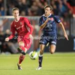 06-10-2017: Voetbal: Almere City FC v MVV Maastricht: Almere (L-R) Dennis van der Heijden (Almere City FC), Pieter Nys (MVV) Jupiler League 2017 / 2018