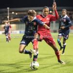 06-10-2017: Voetbal: Almere City FC v MVV Maastricht: Almere (L-R) Pieter Nys (MVV), Arsenio Valpoort (Almere City FC) Jupiler League 2017 / 2018