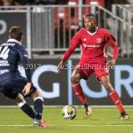 06-10-2017: Voetbal: Almere City FC v MVV Maastricht: Almere (L-R) Alessandro Ciranni (MVV), Arsenio Valpoort (Almere City FC) Jupiler League 2017 / 2018