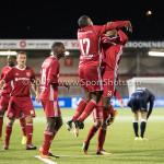 06-10-2017: Voetbal: Almere City FC v MVV Maastricht: Almere (L-R) Arsenio Valpoort (Almere City FC), Achille Vaarnold (Almere City FC) Jupiler League 2017 / 2018