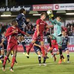 06-10-2017: Voetbal: Almere City FC v MVV Maastricht: Almere (L-R) Damon Mirani (Almere City FC), Michael Verrips (MVV) Jupiler League 2017 / 2018