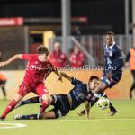 06-10-2017: Voetbal: Almere City FC v MVV Maastricht: Almere (L-R) Charlie Telfer (Almere City FC), Florian Loshaj (MVV) Jupiler League 2017 / 2018