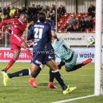 06-10-2017: Voetbal: Almere City FC v MVV Maastricht: Almere (L-R) Arsenio Valpoort (Almere City FC), Michael Verrips (MVV) Jupiler League 2017 / 2018