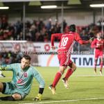 06-10-2017: Voetbal: Almere City FC v MVV Maastricht: Almere (L-R) Michael Verrips (MVV), Ezra Walian (Almere City FC) Jupiler League 2017 / 2018