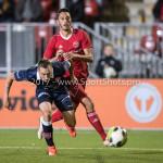 06-10-2017: Voetbal: Almere City FC v MVV Maastricht: Almere (L-R) Ricardo Ippel (MVV), Khalid Tadmine (Almere City FC) Jupiler League 2017 / 2018