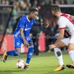 16-10-2017: Voetbal: Jong Ajax v Almere City FC: Amsterdam (L-R) Achille Vaarnold (Almere City FC), Mitchel Dijks (Jong Ajax) Jupiler League 2017 / 2018