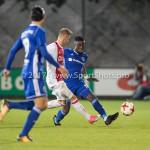16-10-2017: Voetbal: Jong Ajax v Almere City FC: Amsterdam (L-R) Daley Sinkgraven (Jong Ajax), Leeroy Owusu (Almere City FC) Jupiler League 2017 / 2018