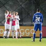 16-10-2017: Voetbal: Jong Ajax v Almere City FC: Amsterdam (L-R) Jong Ajax Celebrating 3-0 Jupiler League 2017 / 2018