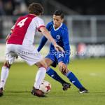16-10-2017: Voetbal: Jong Ajax v Almere City FC: Amsterdam (L-R) Leon Bergsma (Jong Ajax), Anass Ahannach (Almere City FC) Jupiler League 2017 / 2018
