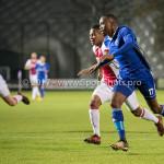 16-10-2017: Voetbal: Jong Ajax v Almere City FC: Amsterdam (L-R) Darren Sidoel (Jong Ajax), Arsenio Valpoort (Almere City FC) Jupiler League 2017 / 2018
