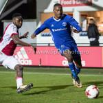 16-10-2017: Voetbal: Jong Ajax v Almere City FC: Amsterdam (L-R) Deyovaisio Zeefuik (Jong Ajax), Arsenio Valpoort (Almere City FC) Jupiler League 2017 / 2018