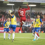 20-10-2017: Voetbal: Almere City FC v SC Cambuur: Almere (L-R) Jordy van Deelen (SC Cambuur), Arsenio Valpoort (Almere City FC) Jupiler League 2017 / 2018