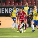 20-10-2017: Voetbal: Almere City FC v SC Cambuur: Almere (L-R) Anass Ahannach (Almere City FC), Daan Boerlage (SC Cambuur) Jupiler League 2017 / 2018
